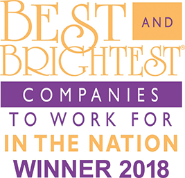 Best and Brightest Companies to Work for in the Nation winner 2018